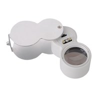 Wholesale New Magnifier X mm Jewelers Loupe Magnifying Glass LED Lighted UV Lights Watch Repair Tools