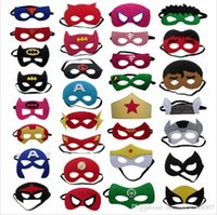 Wholesale Halloween Costume Captain America - 2016 superhero mask halloween cosplay masks kids costume masks superman captain america batman mask for for cartoons 100 styles by DHL