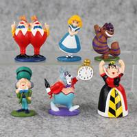 Wholesale set alice wonderland - Wholesale - 6 inch Details about min Alice in Wonderland PVC Cake Toppers Figure Toy 6 pcs set JXU