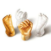 andenken geschenke großhandel-3D Gips Handabdrücke Fußabdrücke Baby Hand Fuß Casting Mini Kit Keepsake Geschenke Baby Hautpflege Kostenloser Versand