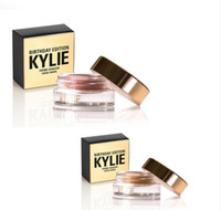Wholesale Eye Shadow Cream Singles - Kylie Creme Shadow Copper&Rose Gold Eyeshadow Presell Kylie Jenner Cosmetics Birthday Edition Copper Rose Gold Eyebrow Enhancers Cream Eye S