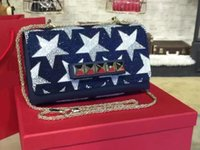 Wholesale Thanksgiving Beaded Bags - New brand designer three colors imported original calfskin genuine leather diamond beaded top A 1:1 quality luxury women shoulder clutch bag