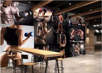 Wholesale Gyms Pictures - Custom mural photo 3d wall paper living room The gym beauty picture decor painting 3d wall murals wallpaper for wall 3 d