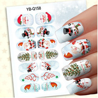 Chiodo 3D Nail Art Stickers Natale Luce Notte Stickers Fluorescente Nail Tips 24 modelli
