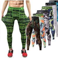 Wholesale Harem Pants Dark Red - 2016 Men compression pants sports running tights basketball gym pants bodybuilding mans joggers army green skinny leggings