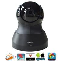 cámaras de seguridad wifi teléfono inteligente al por mayor-Tenvis IP Camera Baby Monitor 720P WIFI inalámbrico Pan / Tilt Onvif PTZ Cámara P2P Tech para Smartphone CCTV Security