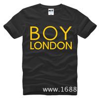 Wholesale Tee Shirt Boy London - WISHCART Bigbang Zhi-Long GD Inkigayo boy london Mens Men T Shirt Tshirt Fashion 2016 Short Sleeve Cotton T-shirt Tee Camisetas Hombre