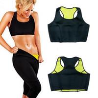 Wholesale Tank Body Shapers - 100pcs AAA+ quality Hot Neoprene Sports Bra Slimming Shapers Bra Hot shapers Vest Body Shaper Women sports vests Tops Tanks
