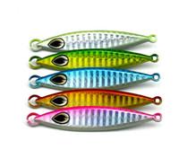 Wholesale Mix Sea Fishing Lures - Mixed 5 Colors Saltwater Deep Sea Ocean Fishing Slow Jigging Lures 20g 30g 40g 60g Metal Lead Fish Jig Bait