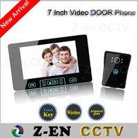 "Wholesale Security Camera W - hot sale 7"" TFT Monitor LCD Color Wireless Video Door Phone Doorbell Home Security door Intercom with night vision function"