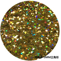 nagel verzieren großhandel-1.00 kg / lot gold pailletten DIY Glitter schmetterling form mit grünen pailletten flash powder nail Facettiert lose pailletten nähen Pailletten nähen