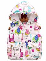 Wholesale White Girls Vest - Hot sales 2016 New Kids Outerwear Winter Boy Animals Graffiti Children Vest Children Jacket Cotton Jacket Children Outerwear Warm Vest