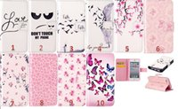 Pour Iphone 6 6S / Plus / 5 5S 5SE / 5C / Touch 6 5 Fée Feather Butterfly Ne pas toucher la mode Mon Phone Wallet Rose Cartoon Cute carte en cuir Pouch