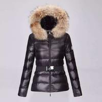 Wholesale White Parka Fur Hood - M98 parkas for women winter woman famous jacket anorak women coats with real fur hood parka women jackets