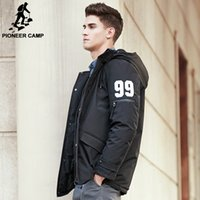 Wholesale High End Down Coats - Wholesale- Pioneer Camp New thick winter down jacket men High-end quality men warm duck down jacket windproof brand male down coat 611620