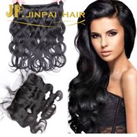Wholesale Swiss Lace Indian Remy Closure - 4 PCS Lace Frontal Closure With Bundles Indian Malaysian Peruvian Brazilian Hair Weave Body Wave And Straight Human Hair Swiss Lace Closure