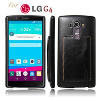 Wholesale Ray Leather Case - LG G4 Back Case Crazy horse Leather Phone Cover Kickstand Stand Card Holder phone accessories For LG Nexus G5 G3 Spirit Magna Leon Ray