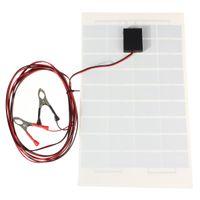 Wholesale 12v Module Solar Panel - Batteries Cells, Panel LEORY 12V 10W Solar Panel PolyCrystalline Cells DIY Solar Module Epoxy Resin With Block Diode 2 Alligator