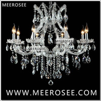 Wholesale Maria Crystal Chandelier - Hot selling Maria Theresa Clear White Crystal Chandelier Lamp Luster Cristal Pendelleuchte Light Fixture top quality 8 Lights