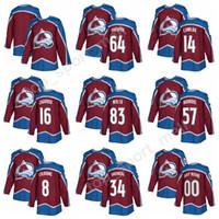 Wholesale Nails Flash - Colorado Avalanche Hockey Jerseys 2018 New Style Custom 14 Blake Comeau 16 Nikita Zadorov 57 Gabriel Bourque 64 Nail Yakupov 83 Matt Nieto