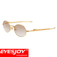 Wholesale Stainless Leg - 18k Gold Diamonds vintage Sunglasses Brands for Men Women luxury Brand Designer Metal Frame Sun Glasses Straight Leg CT1180148