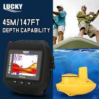 "Wholesale Waterproof Fishing Watches - LUCKY Russian Version Waterproof 1.77"" Colorful Digital Watch Type 200 Feet (60Meters) Range Wireless & Clock Mode Fish finder"