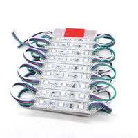 Wholesale Outdoor Rgb Led Sign - 2000PCS 5050 SMD RGB 3LEDS Waterproof LED Modules FOR LED Sign Outdoor LED Christmas Lights Free Shipping