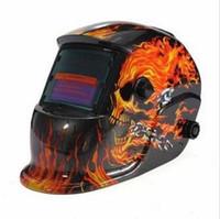Wholesale Skull Solar Welding Helmet - Electrical Welding Helmet Solar Energy Automatic Darkening Skull Mask