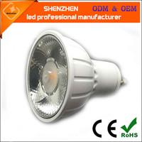 mr16 led bombillas calientes al por mayor-800lm 10 grados 20 grados Super brillante MR16 GU10 LED Bombilla 8W LED lámpara de luz GU10 COB Regulable GU 10 led Proyector Cálido frío Blanco