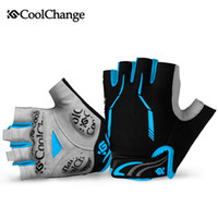 Wholesale Brown Half Finger Gloves - CoolChange Half Finger Cycling Gloves Mens Women's Summer Sports Bike Gloves Nylon Mountain Bicycle Gloves Guantes Ciclismo Racing road bik