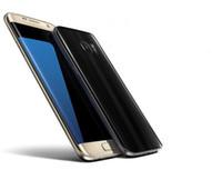 Wholesale Dhl Free Shipping Smartphone - 2017 HDC S7 edge 64bit Quad core 1GBRAM 8GROM show 4G 3GB RAM 64GB ROM smartphone android 6.0 goophone s7 edge Metal frame DHL Free Shipping