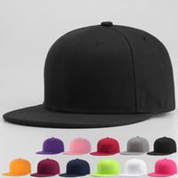Wholesale Quality Blank Snapback Hats - Hot plain Blank Hat New Hot Snapback Solid Hats Baseball Caps Football Caps Adjustable basketball Cheap cap Fshion quality 2561