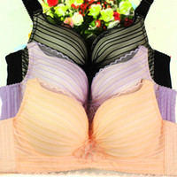 Wholesale Girls C Size Bras - MOXIAN Bra girls underwear students loaded bras There rims adjustable bra energetic and cute thin mold cup Lace bras 32-38 size B C cup 0320