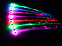 Wholesale neon birthday party - LED Hair Braid Clip Hairpin Multicolor LED Flash Light Birthday neon dance Celebration Supplies for Halloween Party Dance Christmas