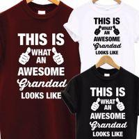 xmas baba toptan satış-Toptan-Başar Süper Grandad BABA T Shirt Babalar Günü XMAS Noel Doğum Günü Hediye Üst T-Shirt Erkekler Komik Üstleri Tee Euro Boyutu S-XXXL