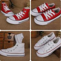 eu taille 34 chaussures achat en gros de-Livraison gratuite taille UE 24-34 Nouvelle marque enfants chaussures de toile de mode haute - chaussures basses garçons et filles sport chaussures de sport enfants chaussures
