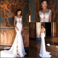 4a856286a Berta nuevo diseño Vintage Vestido De Novia 2018 vestidos de novia sirena  sexy sin mangas con apliques Beach vestidos de novia de encargo BA6826