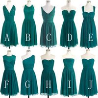 Discount discount-discount - Simple Chiffon Summer Beach Short Junior Bridesmaid Dresses 2017 Cheap Bridesmaid Dresses Convertible Styles Bohemian Country Style Dresses