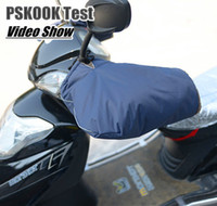 Wholesale Electric Motorbikes - Wholesale-Motorcycle Handlebar Muffs Motorbike Waterproof Windproof Gloves Electric Motor Winter Hand Warm Covers Snuggies For Scooters