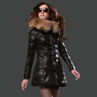 хорошие зимние пальто бренды оптовых-Хороших бренды Зимнего пальто Женщин Мода Стиль пуховик черные дамы Длинного Parka легкий бомбардировщик куртка