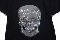 neuheit schädel hemden für männer großhandel-2018 Neuzugang-Frauen / Mann-Sommer-Blumen-Schädel-Kopf druckte T-Shirt des T-Shirt-3 Coole Spitzenart- und weiseneuheit-T-Stück Freies Verschiffen