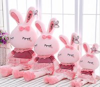 Wholesale Cute Love Dolls - New Arrival 2016 Love Rabbit Plush Toy Doll Lovely & Cute Great Brithday Gift 25-90cm Free Shipping Kids Toys