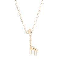 ingrosso oro giraffa-10pcs / lot argento oro carino giraffa animale collane per le donne piccoli pendenti amicizia con catena bridemaidi regali vendita calda