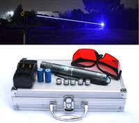 Wholesale Metal Burning Laser - Laser Pointer Pen 10 Mile Most Powerful Burning Blue Laser Pointer with Metal Box Charger glasses and 5 star caps