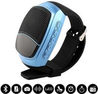 Wholesale Dock Radio - B90 Mini Bluetooth Speaker Smart Watch Speaker Wireless Subwoofers Speaker With Screen Support TF FM USB