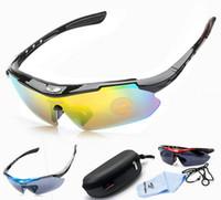 bisiklet sürme gözlükleri toptan satış-Doğa Sporları MTB Yol Dağ Bisiklet Sürme Bisiklet Bisiklet PC kompozit reçine Güneş Gözlükleri Gözlük Gözlük