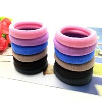 XS High Elastic Jointless Towel Hair Bands para mulheres Rubber Band Cloth Hair Circle Wholesale