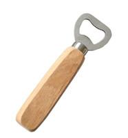 ingrosso apri di bottiglia di vino rosso-Manico in legno in acciaio inox Strumenti per barra apribottiglie per birra vino rosso