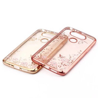 Wholesale Garden Gel - Bling Diamond Metallic Secret Garden Flower Soft TPU Case For Galaxy S8 Plus J5 J7 Prime A3 A5 2017 C5 C7 C9 Pro G360 G530 Chromed Gel Skin