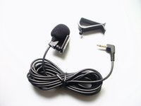 Wholesale Microphone Collar - Mini Wired External Car Microphone for Car DVD Player and 3 m Cable with 3.5 mm Mono Audio Jack collar Microphone 1pcs lot